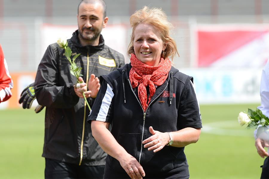Susanne Kopplin beim Abschied der U23 im Mai 2015, Foto: Stefanie Fiebrig